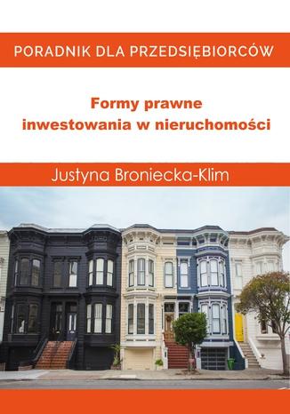Okładka książki/ebooka Formy prawne inwestowania w nieruchomości
