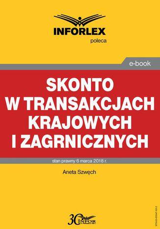Okładka książki Skonto w transakcjach krajowych i zagranicznych