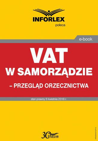 Okładka książki VAT w samorządzie  przegląd orzecznictwa