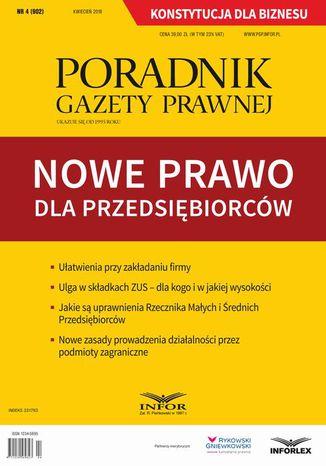 Okładka książki Nowe prawo dla przedsiębiorców