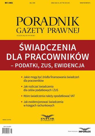 Okładka książki/ebooka Świadczenia dla pracowników  podatki, ZUS, ewidencja