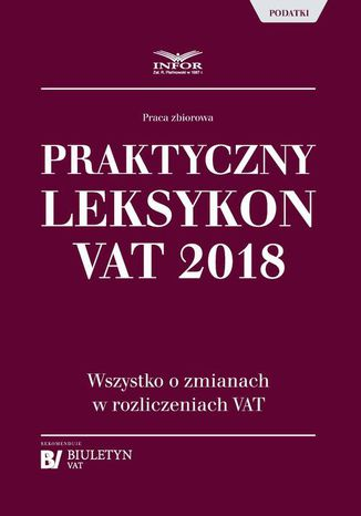Okładka książki Praktyczny leksykon VAT 2018