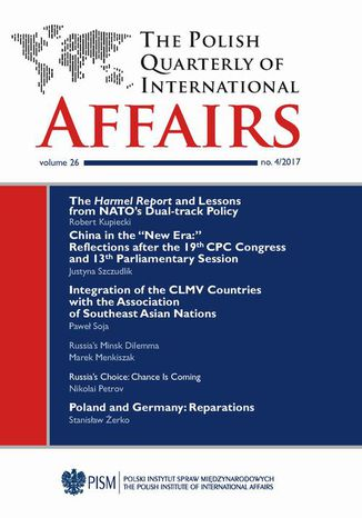 Okładka książki The Polish Quarterly of International Affairs 4/2017
