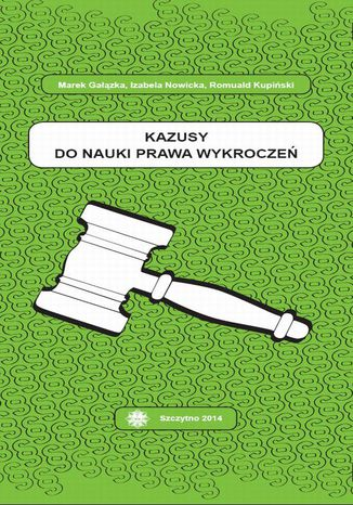 Okładka książki Kazusy do nauki prawa wykroczeń