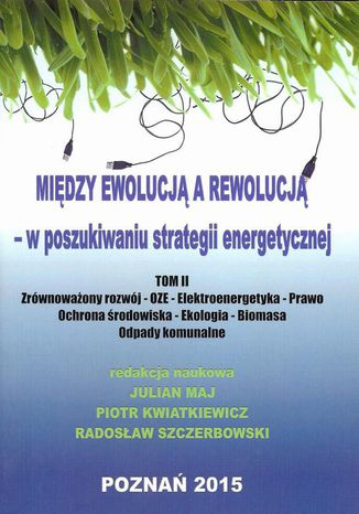 Okładka książki Między ewolucją a rewolucją - w poszukiwaniu strategii energetycznej Tom 2