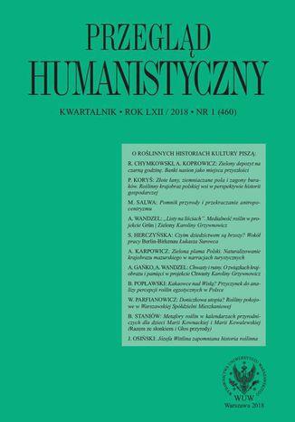 Okładka książki Przegląd Humanistyczny 2018/1 (460)
