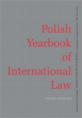 Okładka książki 2017 Polish Yearbook of International Law vol. XXXVII