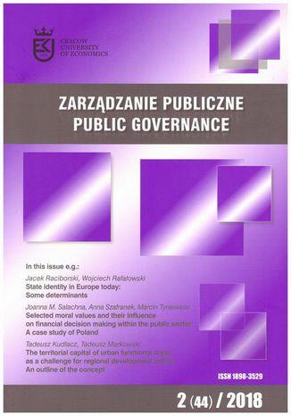 Okładka książki Zarządzanie Publiczne nr 2(44)/2018