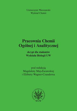 Okładka książki Pracownia Chemii Ogólnej i Analitycznej
