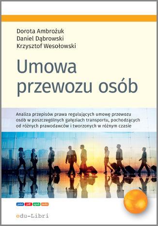 Okładka książki Umowa przewozu osób