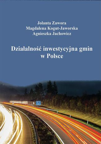 Okładka książki Działalność inwestycyjna gmin w Polsce