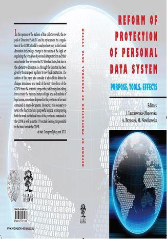 Okładka książki Reform Of Protection Of Personal Data System - Purpose, Tools