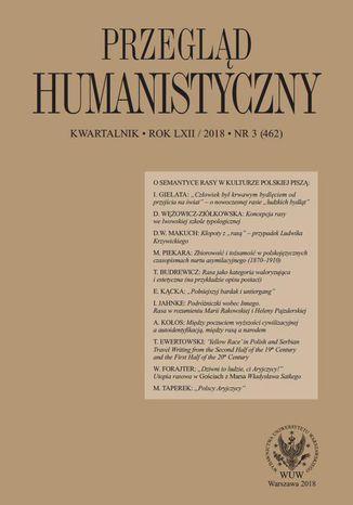 Okładka książki/ebooka Przegląd Humanistyczny 2018/3 (462)