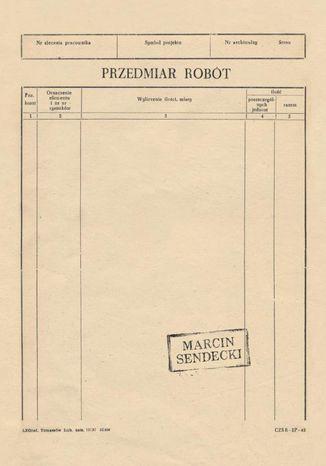 Okładka książki Przedmiar robót