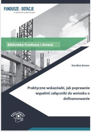 Okładka książki Praktyczne wskazówki, jak poprawnie wypełnić załączniki do wniosku o dofinansowanie
