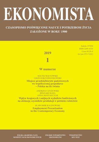 Okładka książki Ekonomista 2019 nr 1