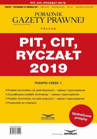Okładka książki/ebooka PIT CIT Ryczałt 2019