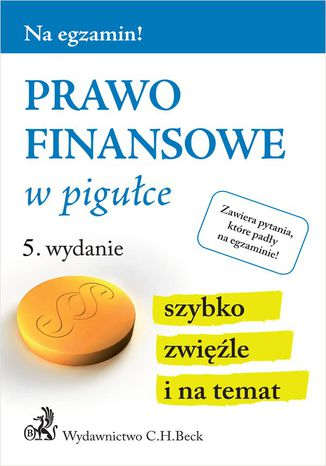 Okładka książki/ebooka Prawo finansowe w pigułce. Wydanie 5