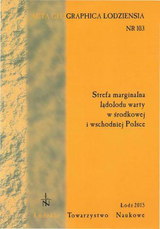 Okładka książki Acta Geographica Lodziensia t. 103