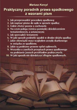 Okładka książki/ebooka Praktyczny poradnik prawa spadkowego