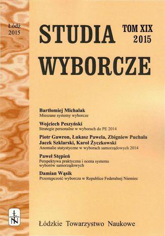 Okładka książki Studia Wyborcze t. 19
