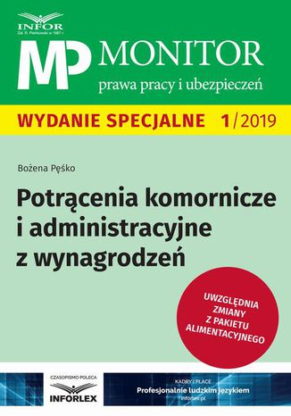 Okładka książki/ebooka Potrącenia komornicze i administracyjne z wynagrodzeń