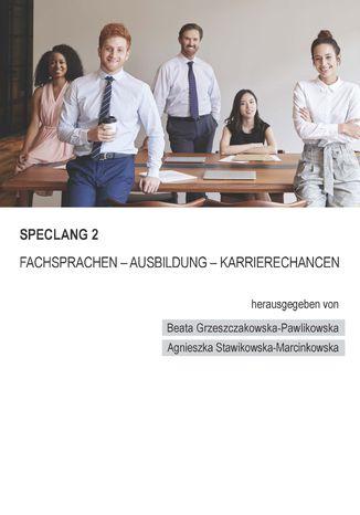 Okładka książki/ebooka Speclang 2. Fachsprachen - Ausbildung -Karrierechancen