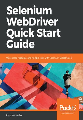 Okładka książki Selenium WebDriver Quick Start Guide