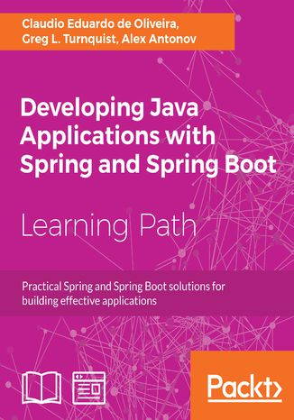 Okładka książki/ebooka Developing Java Applications with Spring and Spring Boot
