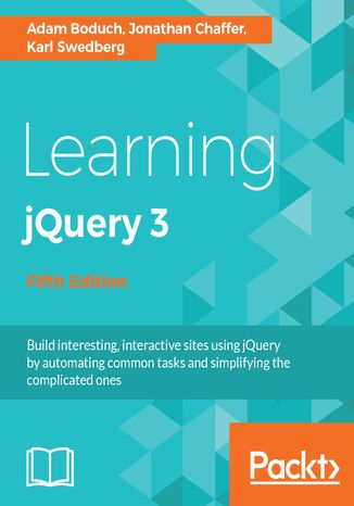 Okładka książki/ebooka Learning jQuery 3 - Fifth Edition