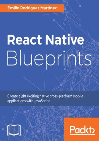 Okładka książki/ebooka React Native Blueprints