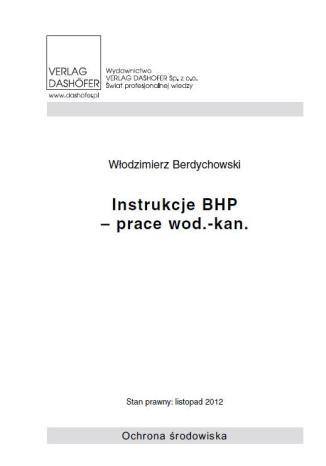 Instrukcje BHP- prace wod.- kan