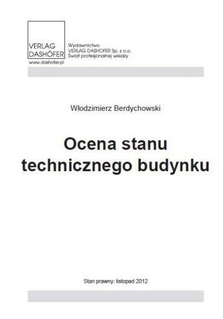 Okładka książki Ocena stanu technicznego budynku
