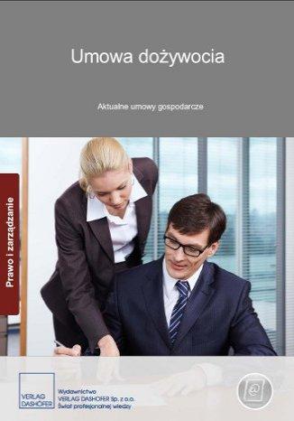 Okładka książki Umowa dożywocia. Aktualne umowy gospodarcze