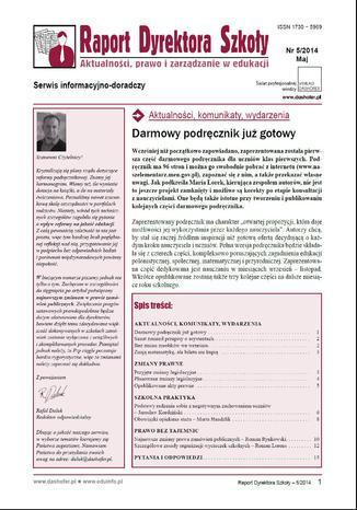 Okładka książki/ebooka Raport Dyrektora Szkoły on-line Aktualności, prawo i zarządzanie w edukacji