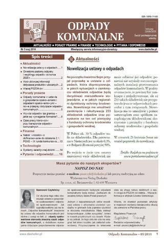 Odpady komunalne on-line Aktualności - Prawo - Finanse