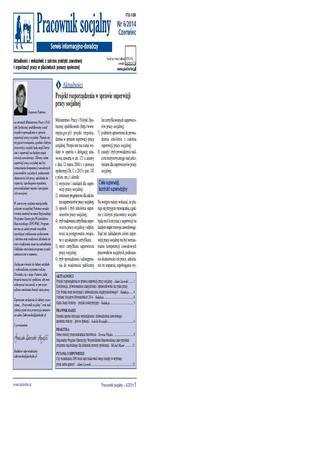 Okładka książki Pracownik socjalny on-line