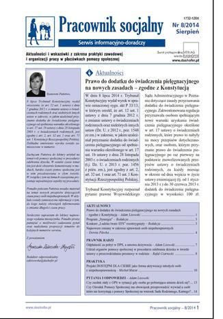 Pracownik socjalny nr.8/2014r