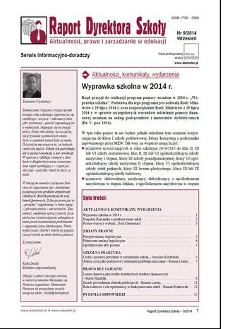 Raport Dyrektora Szkoły on-line ONNRDS 10/2014