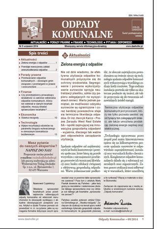 Odpady komunalne on-line 10/2014 ONNOK