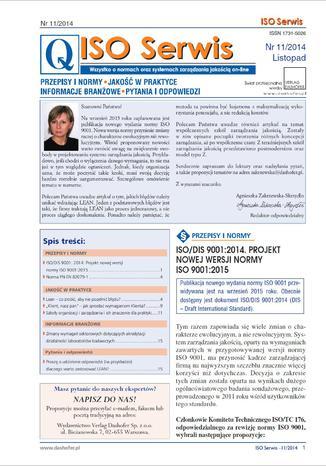 Okładka książki ISO serwis ONNISO 11/2014