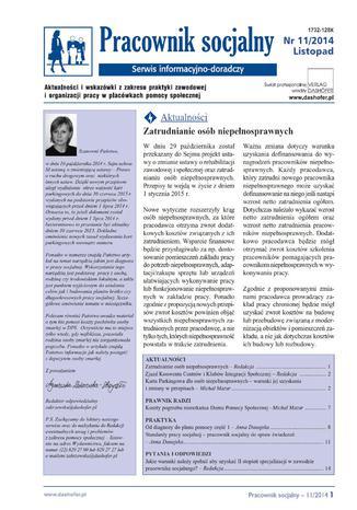 Pracownik socjalny nr.11/2014