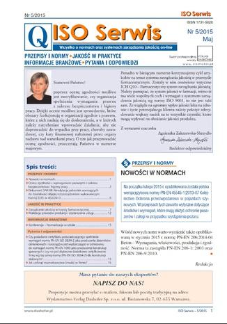 ISO Serwis. Wszystko o normach i systemach zarządzania jakością. Nr 5/2015