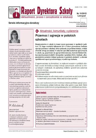 Raport Dyrektora Szkoły on-line ONNRDS 11/2014