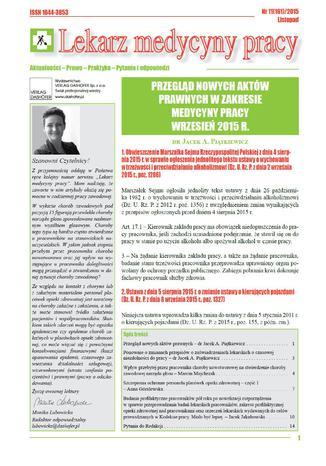 Lekarz Medycyny Pracy on-line Nr.11/2015