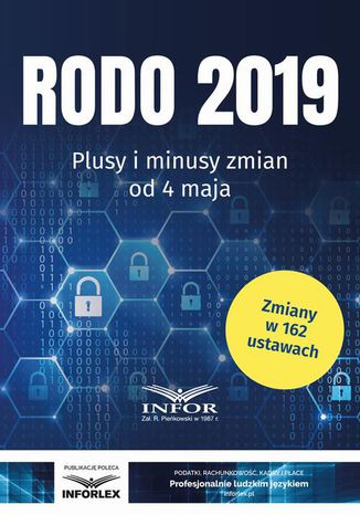 Okładka książki/ebooka RODO 2019 Plusy i minusy zmian od 4 maja