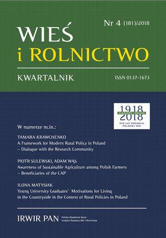 Okładka książki/ebooka Wieś i Rolnictwo nr 4(181)/2018