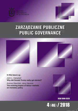 Okładka książki Zarządzanie Publiczne nr 4(46)/2018