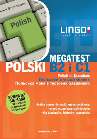Okładka książki Polski B2 i C1. Megatest