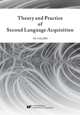 "Ebook ""Theory and Practice of Second Language Acquisition"" 2018. Vol. 4 (2))"